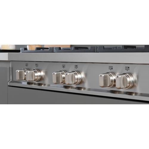 36 Gas Rangetop 6 brass burners Stainless Steel
