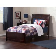 Portland Twin XL Bed with Matching Foot Board in Espresso