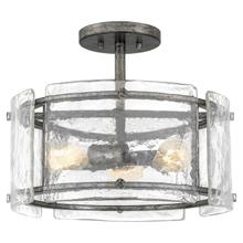 View Product - Fortress Semi-Flush Mount in Mottled Silver
