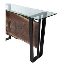 See Details - Crotch Walnut Console Table