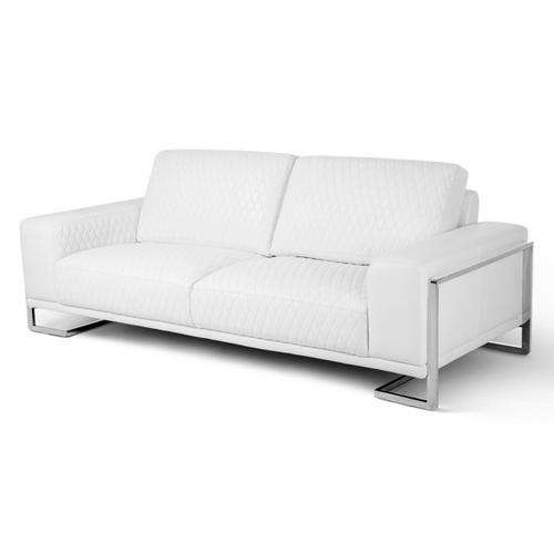 Gianna Leather Sofa - White