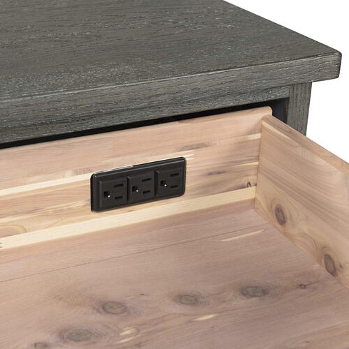 Intercon Furniture - Oak Park Nightstand  Pewter