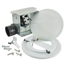 Broan® Roomside 80 CFM Decorative Ventilation Fan Light with trim kit, 2.5 sones