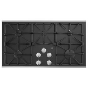 "GE® 36"" Built-In Gas on Glass Cooktop with 5 Burners and Dishwasher Safe Grates"