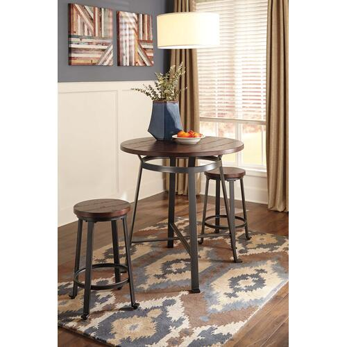 Gallery - Challiman - Rustic Brown 2 Piece Dining Room Set