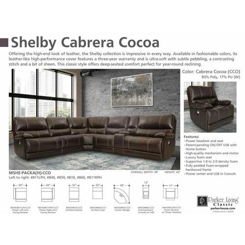 SHELBY - CABRERA COCOA Manual Armless Recliner