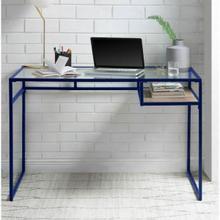 ACME Yasin Desk - 92586 - Blue & Glass