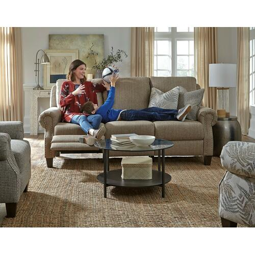 Double Reclining Power Headrest Sofa with Pillows