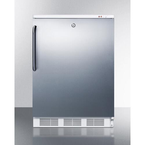 Commercial Built-in Undercounter Medical All-freezer Capable of -25 C Operation, With Lock, Wrapped Stainless Steel Door and Towel Bar Handle