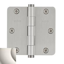 "View Product - Polished Nickel 1/4"" Radius Corner Hinge"
