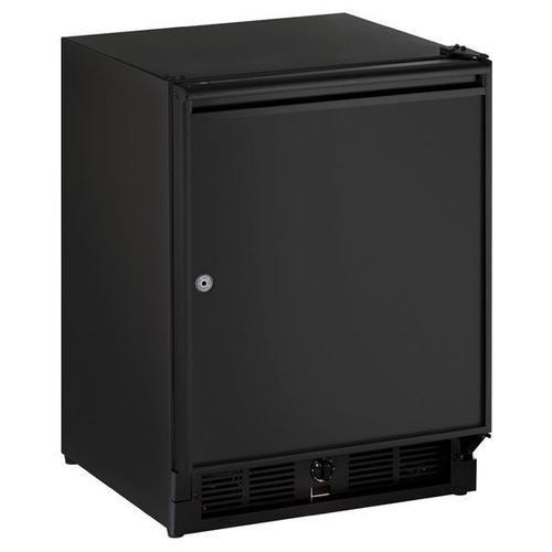 "U-Line - 21"" Refrigerator With Black Solid Finish (115 V/60 Hz Volts /60 Hz Hz)"