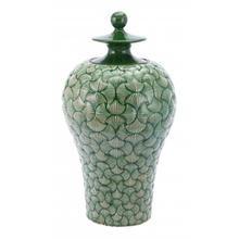 Large Ventra Temple Jar Green