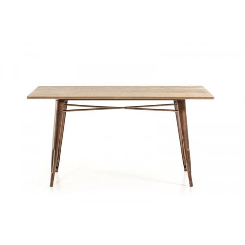 Modrest Ford Modern Copper & Wood Dining Table