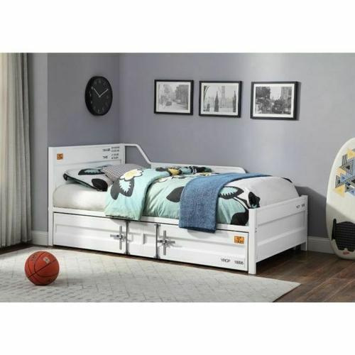 ACME Cargo Daybed & Trundle (Twin Size) - 39880 - White