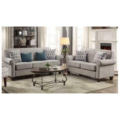 See Details - Gideon Transitional Cement Two-piece Living Room Set