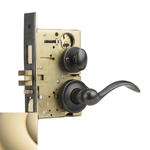 Baldwin - Lifetime Polished Brass Boulder Sectional Entrance Set