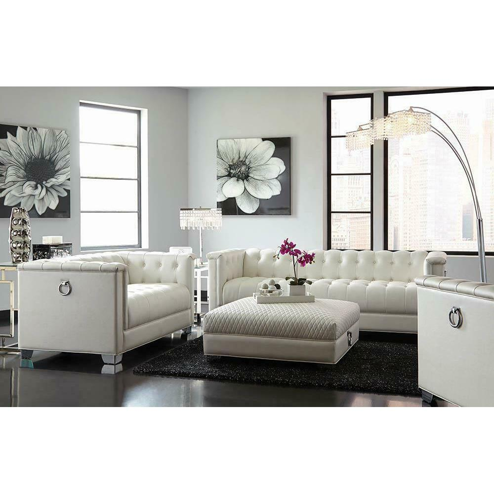 See Details - Chaviano Contemporary White Chair