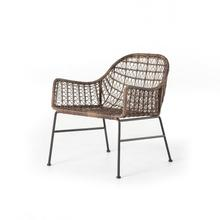 Distressed Grey Finish Bandera Outdoor Woven Club Chair