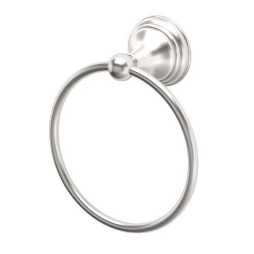 Charlotte Towel Ring in Satin Nickel