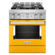 KitchenAid® 30'' Smart Commercial-Style Gas Range with 4 Burners Yellow Pepper Product Image