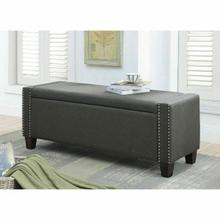 ACME Kelly Bench w/Storage - 96441 - Dark Olive Linen