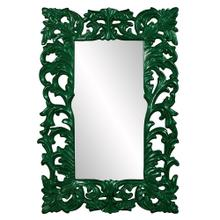 View Product - Augustus Mirror - Glossy Hunter Green