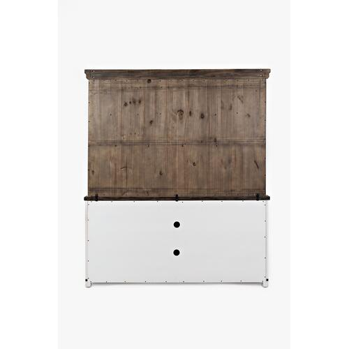 "Madison County 70"" Barn Door Server - Vintage White"