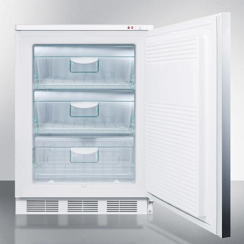 Summit - Commercial Freestanding Medical All-freezer Capable of -25 C Operation, With Lock, Wrapped Stainless Steel Door and Horizontal Handle