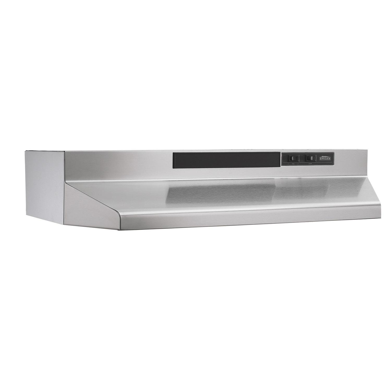 BroanBroan® 30-Inch Convertible Under-Cabinet Range Hood, 160 Cfm, Stainless Steel