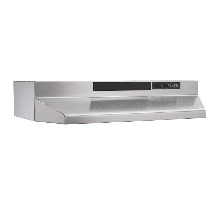 Broan® 30-Inch Convertible Under-Cabinet Range Hood, 160 CFM, Stainless Steel