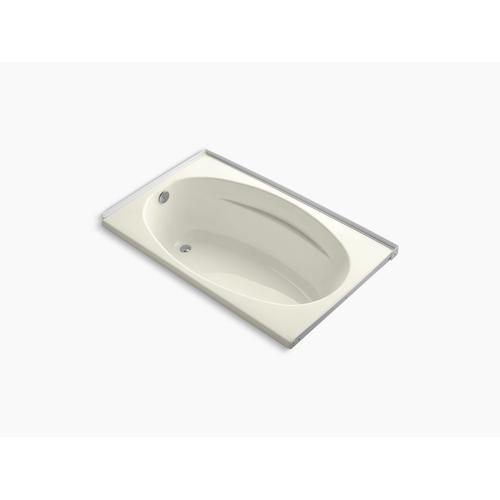 "Biscuit 60"" X 36"" Alcove Bath With Integral Flange and Left-hand Drain"