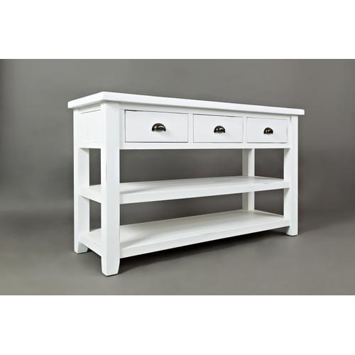 Artisan's Craft Sofa Table - Weathered White