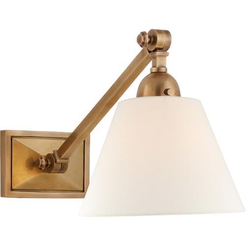 Visual Comfort - Alexa Hampton Jane 1 Light 8 inch Hand-Rubbed Antique Brass Single Library Wall Light