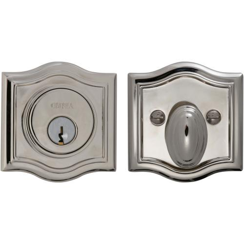 Arched Auxiliary Deadbolt Kit in (US14 Polished Nickel Plated, Lacquered)