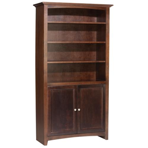 """Whittier Wood - CAF 72""""H x 36""""W McKenzie Alder Bookcase w/doors"""