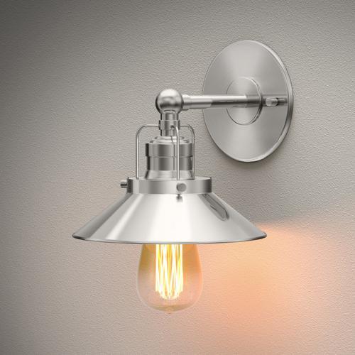 Modern Farmhouse Retro Lighting Sconces in Satin Nickel