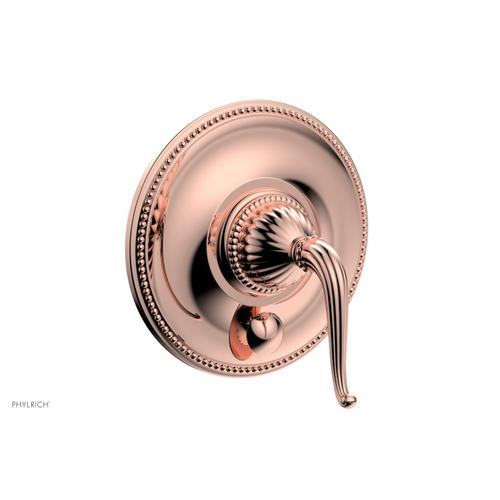 GEORGIAN & BARCELONA Pressure Balance Shower Plate with Diverter and Handle Trim Set PB2141TO - Polished Copper