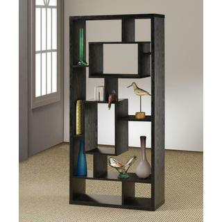 Transitional Black Oak Bookcase