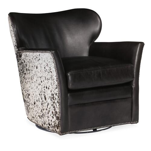 Hooker Furniture - Kato Leather Swivel Chair w/ Salt Pepper HOH