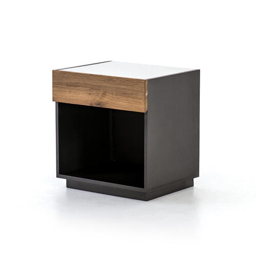 Holland Nightstand-grey Lacquer