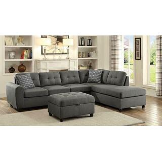 See Details - Stonenesse Contemporary Grey Sectional