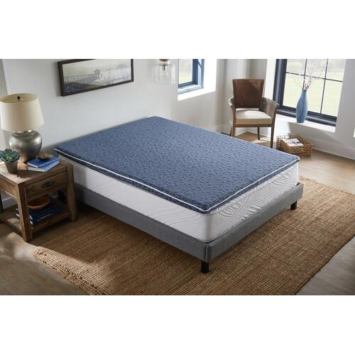 "American Bedding 3"" Hybrid Dual-Sided Mattress Topper with Micro Coils, Queen"