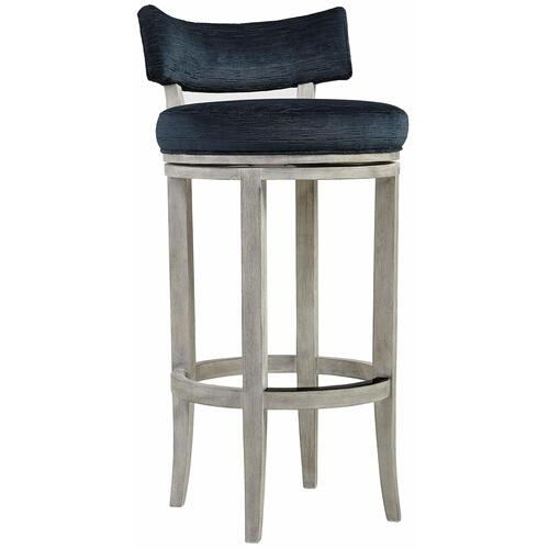 Gallery - Hirsch Bar Stool in Weathered Greige Finishes Available Glacier White (WW1) Midnight Black (BW1) Weathered Greige (GW1) Description Wood frame with low back and stretchers Upholstered swivel return seat with welt Powder-coated metal kick plate on front stretcher in black finish Options Note: No nailhead option Available in other fabrics or COM. To order in the available wire brushed finishes, specify the 3-digit finish number. Also available in non-wire brushed finishes - Cocoa, Portobello and Smoke. See 301-582N . Specifications subject to change without notice. Due to differences in screen resolutions, the fabrics and finishes displayed may vary from the actual fabric and finish colors. ALL RELATED PRODUCTS