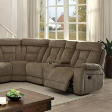 See Details - Maybell Sectional W/ 2 Consoles, Mocha