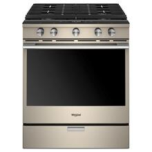 5.8 cu. ft. Smart Slide-in Gas Range with EZ-2-Lift Hinged Cast-Iron Grates-CLOSEOUT