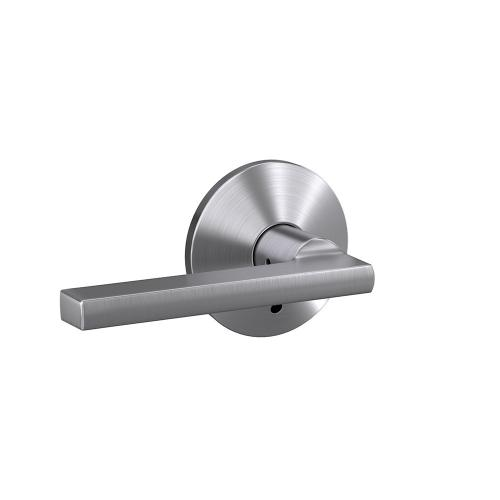 Custom Latitude Lever with Kinsler Trim Hall-Closet and Bed-Bath Lock - Satin Chrome