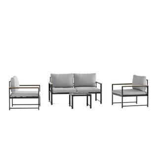 See Details - Burbank Outdoor Aluminum Furniture Set
