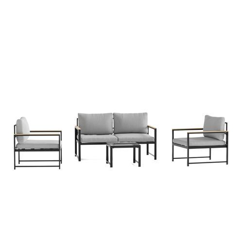 Malouf - Burbank Outdoor Aluminum Furniture Set - Sofa