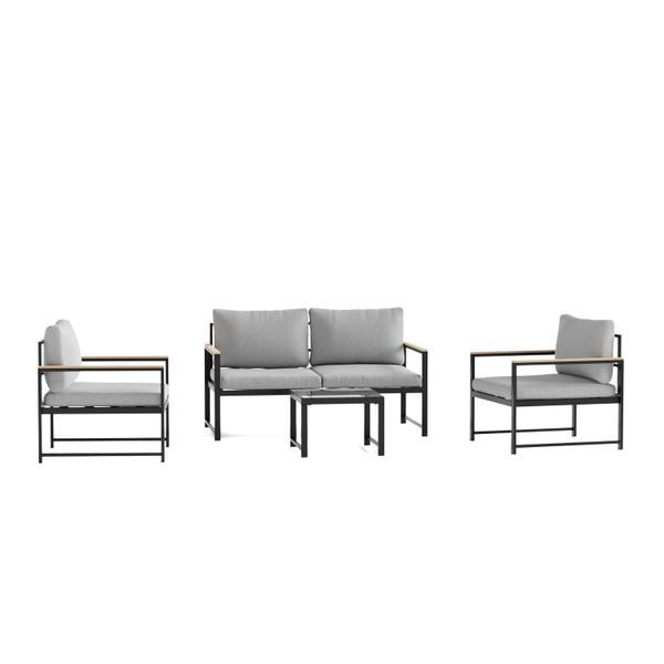 See Details - Burbank Outdoor Aluminum Furniture Set - Chair