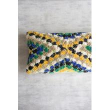 See Details - lumbar pillow \ green, blue, and yellow